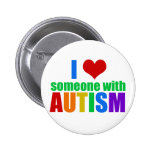 Autism Love 6 Cm Round Badge