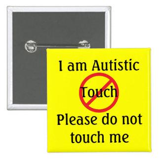 Autism Med Alert No Touch 15 Cm Square Badge