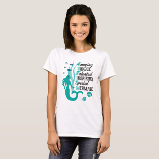 Autism Mermaid Acrostic - Acceptance and Awareness T-Shirt