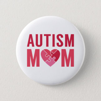 Autism Mom 6 Cm Round Badge