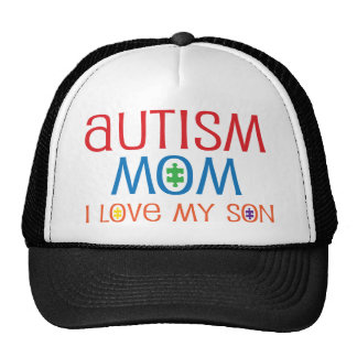 Autism Mom I Love My Son Trucker Hats