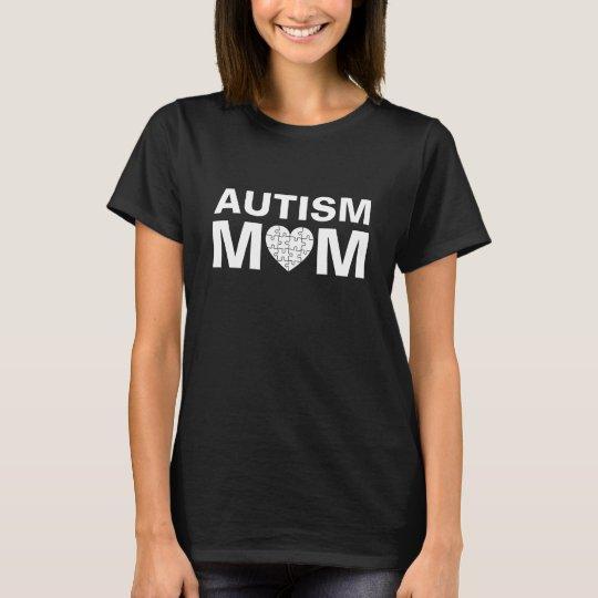 Autism Mum Heart Love Puzzle T-Shirt