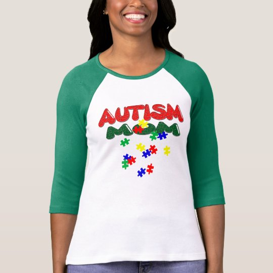 Autism Mum Ladies 3/4 Sleeve Raglan (Fitted) T-Shirt