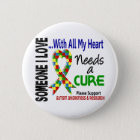 Autism Needs A Cure 3 6 Cm Round Badge