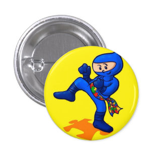 Autism Ninja 3 Cm Round Badge