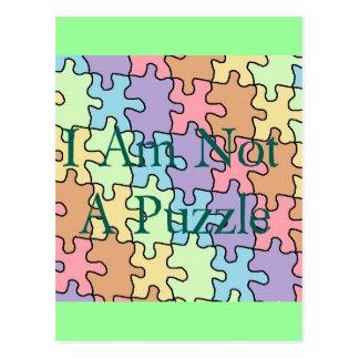 autism not a puzzle 1 postcard