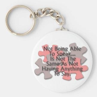 """""""Autism: Not Speaking"""" Keychain"""