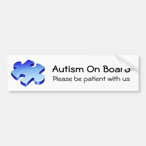 Autism On Board Bumper Sticker