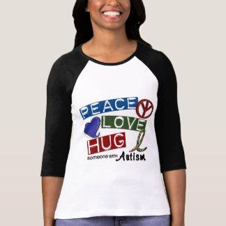 Autism PEACE LOVE HUG T-Shirt
