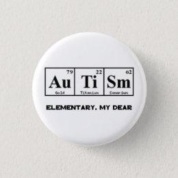 Custom periodic table badges pins zazzle autism periodic table elements sherlock holmes 3 cm round badge urtaz Choice Image
