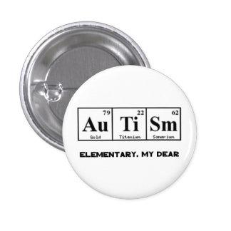 Autism, Periodic Table Elements & Sherlock Holmes 3 Cm Round Badge