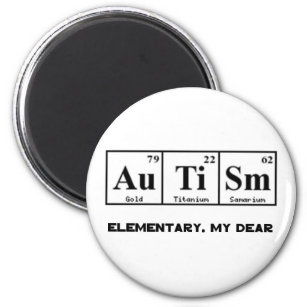 Periodic table of the elements magnets fridge magnets zazzle uk autism periodic table elements sherlock holmes magnet urtaz Image collections