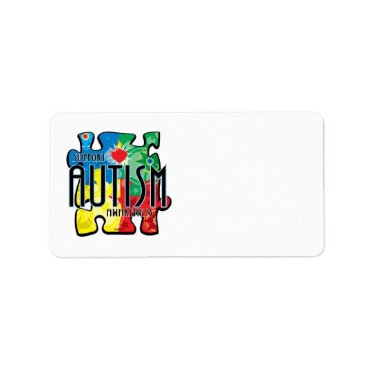 Autism Puzzle Address Label