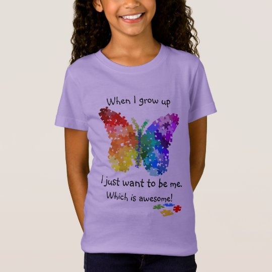 Autism Puzzle Butterfly When I Grow Up Design