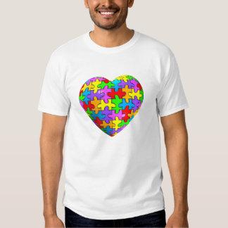 Autism Puzzle Heart T Shirts