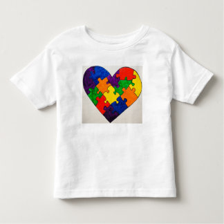 Autism Puzzle Heart Toddler T-Shirt