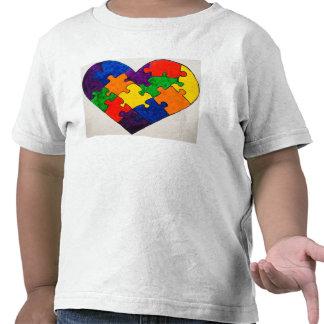 Autism Puzzle Heart T-shirts