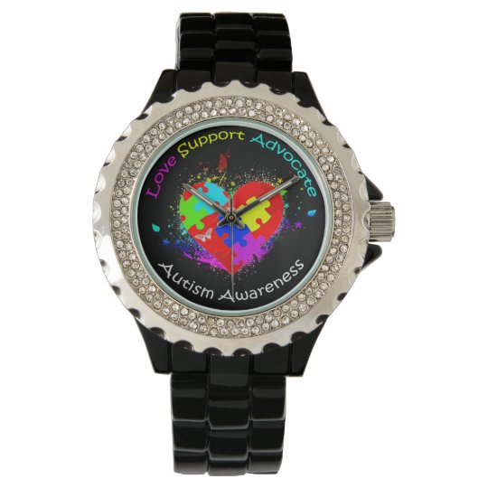 Autism Puzzle on Heart Watch