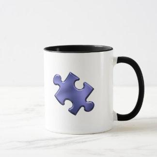 Autism Puzzle Piece Blue Mug