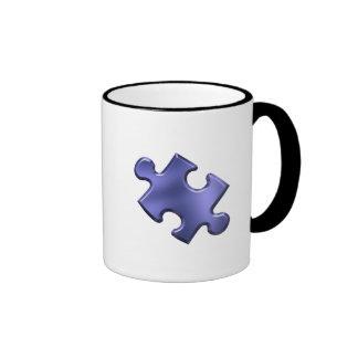 Autism Puzzle Piece Blue Coffee Mug