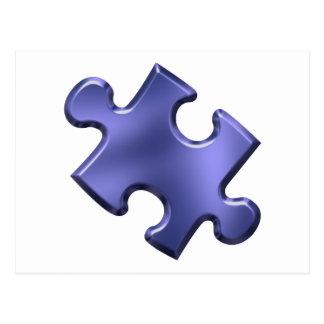 Autism Puzzle Piece Blue Postcard