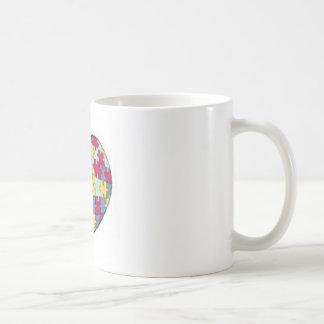 autism puzzle piece heart basic white mug