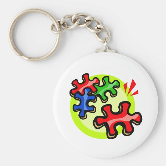 Autism puzzle Piece Key Chain