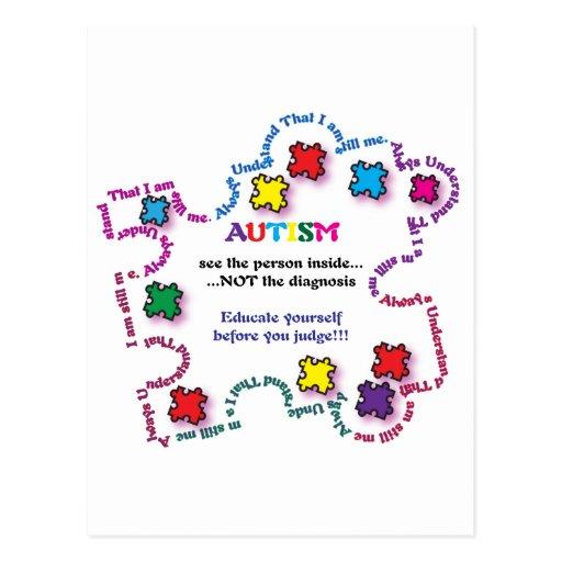 Autism Puzzle Piece Post Card