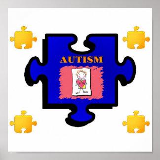 Autism Puzzle Piece Print