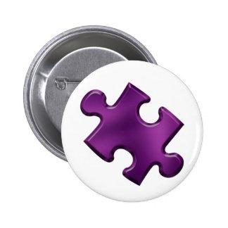 Autism Puzzle Piece Purple 6 Cm Round Badge