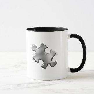 Autism Puzzle Piece Silver Mug