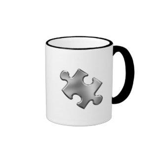Autism Puzzle Piece Silver Ringer Mug