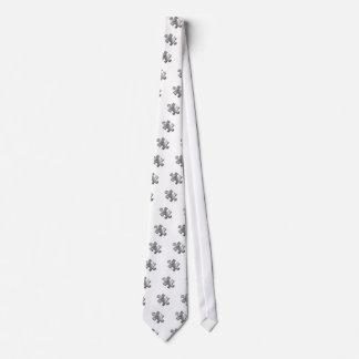 Autism Puzzle Piece Silver Tie