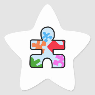 AUTISM PUZZLE PIECE STAR STICKERS