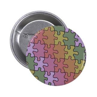 autism puzzle pieces 35 6 cm round badge