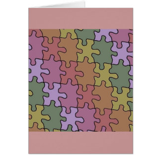 autism puzzle pieces 35 greeting card