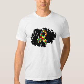 Autism Puzzle Ribbon 1.1 With Scribble Shirts
