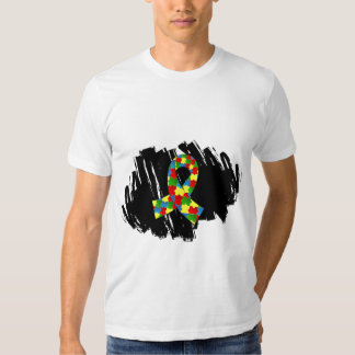 Autism Puzzle Ribbon 1.1 With Scribble T-shirts
