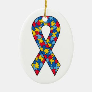 Autism Puzzle Ribbon ornament