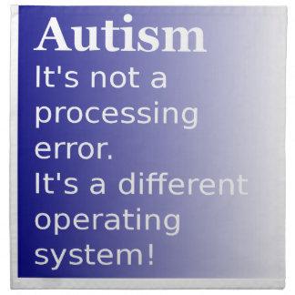 Autism Quote Napkin