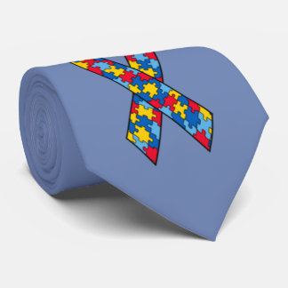 Autism Ribbon custom tie