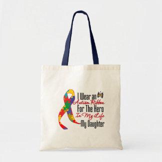 Autism Ribbon Hero in My Life My Daughter Bag