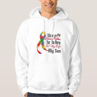 Autism Ribbon Hero in My Life My Son Sweatshirt
