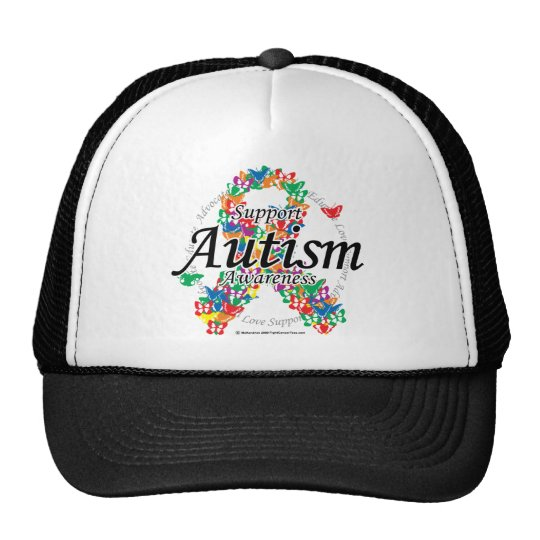 Autism Ribbon of Butterflies Cap