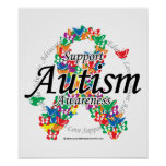 Autism Ribbon of Butterflies Posters
