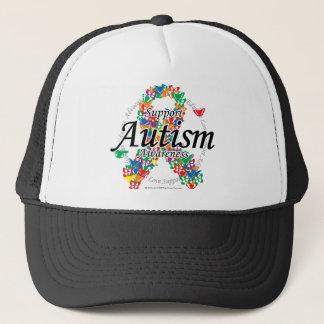 Autism Ribbon of Butterflies Trucker Hat