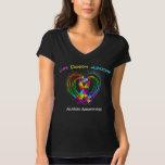 Autism Ribbon on Heart Tshirts