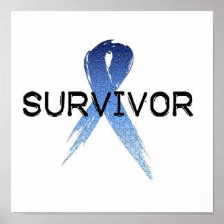 Autism Ribbon Survivor Poster