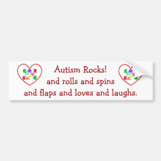Autism Rocks Bumper Sticker