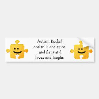 Autism Rocks Bumper Sticker